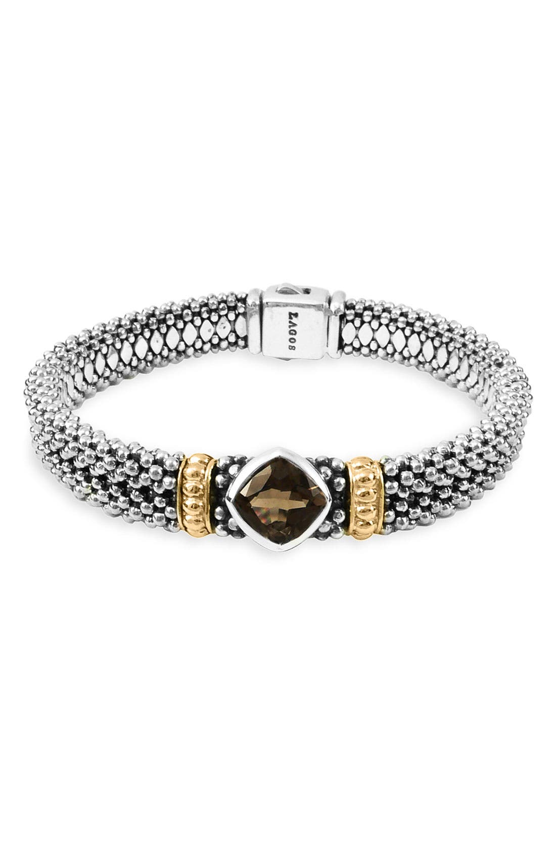 Alternate Image 1 Selected - LAGOS Sterling Silver & Smoky Quartz Bracelet