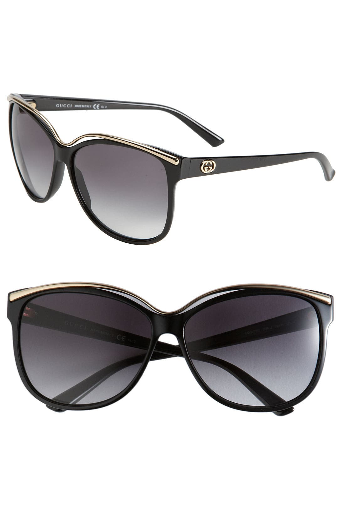 Alternate Image 1 Selected - Gucci 62mm Cat Eye Sunglasses