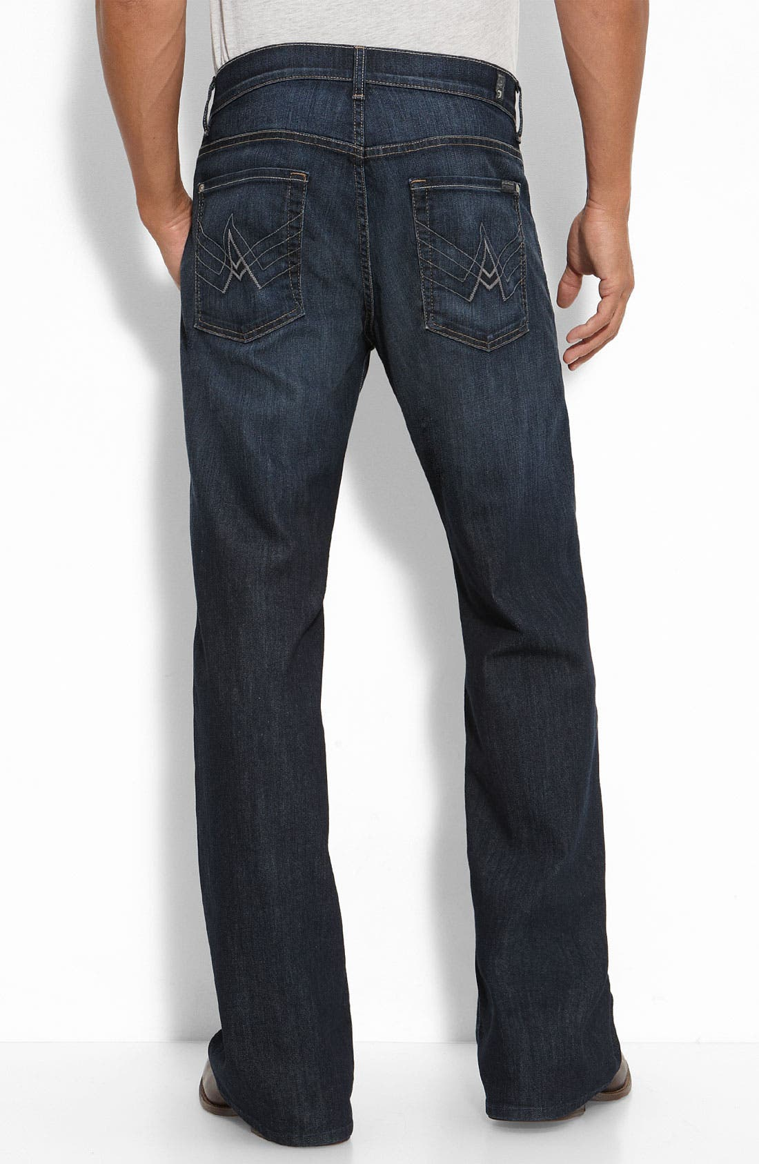Alternate Image 1 Selected - 7 For All Mankind® 'A-Pocket' Relaxed Fit Jeans (Worn Hawthorne)