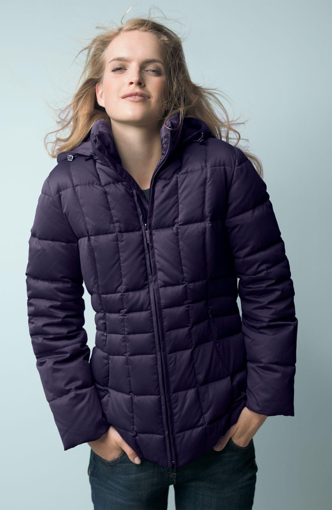 Alternate Image 2  - Calvin Klein Hooded Satin Down Coat