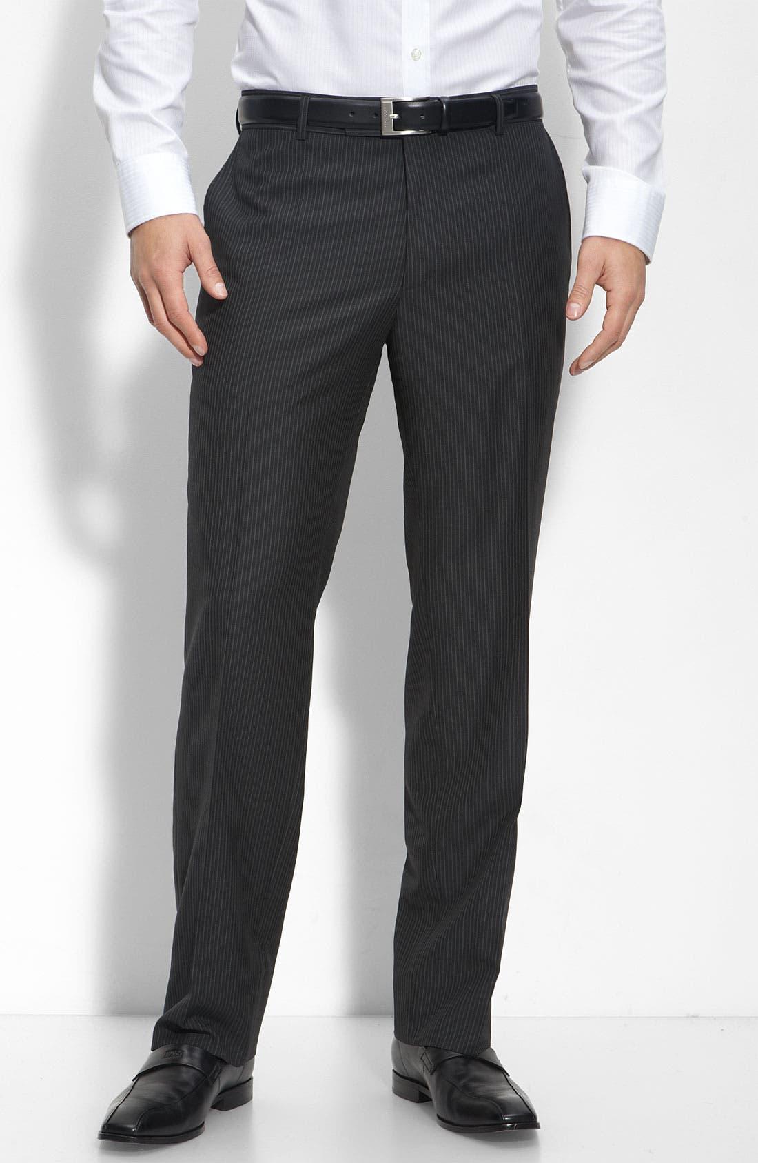 BOSS Black 'Pasolini/Movie' Charcoal Stripe Wool Suit,                             Alternate thumbnail 2, color,                             Charcoal Stripe