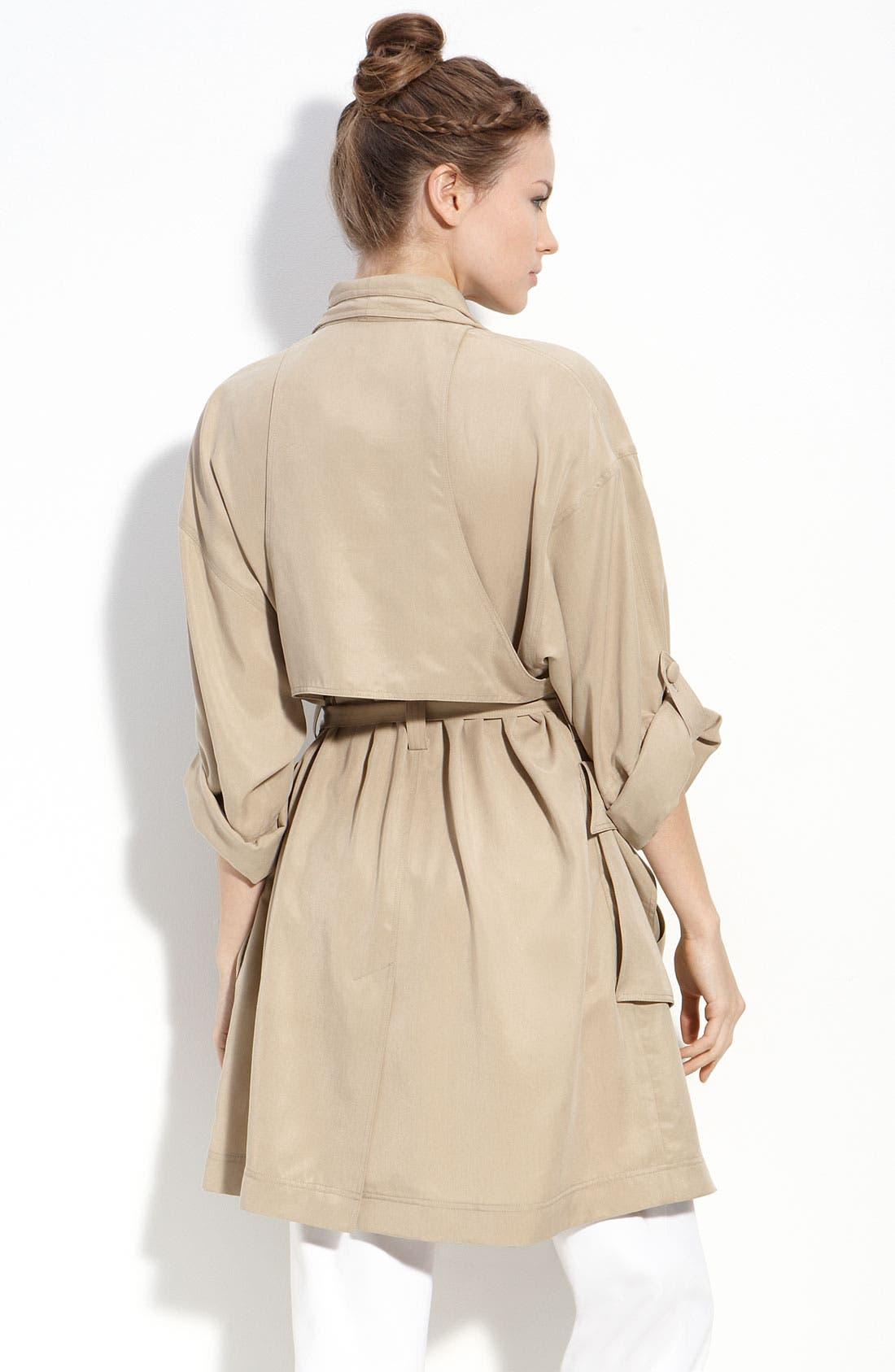 Trench Coat,                             Alternate thumbnail 2, color,                             Camel