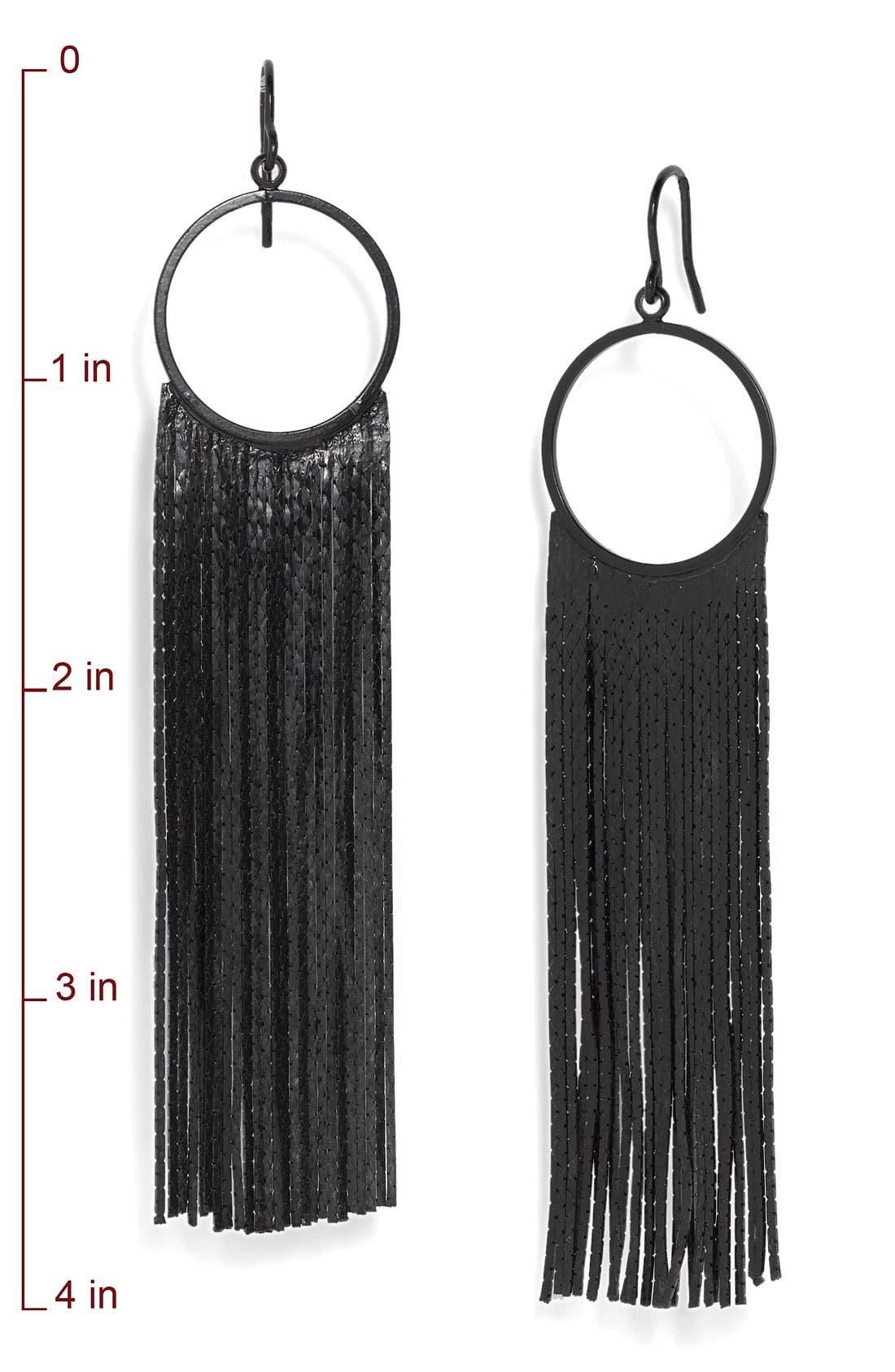 Alternate Image 2  - Tarnish 'Brushed Metals' Circle Drop Fringe Earrings