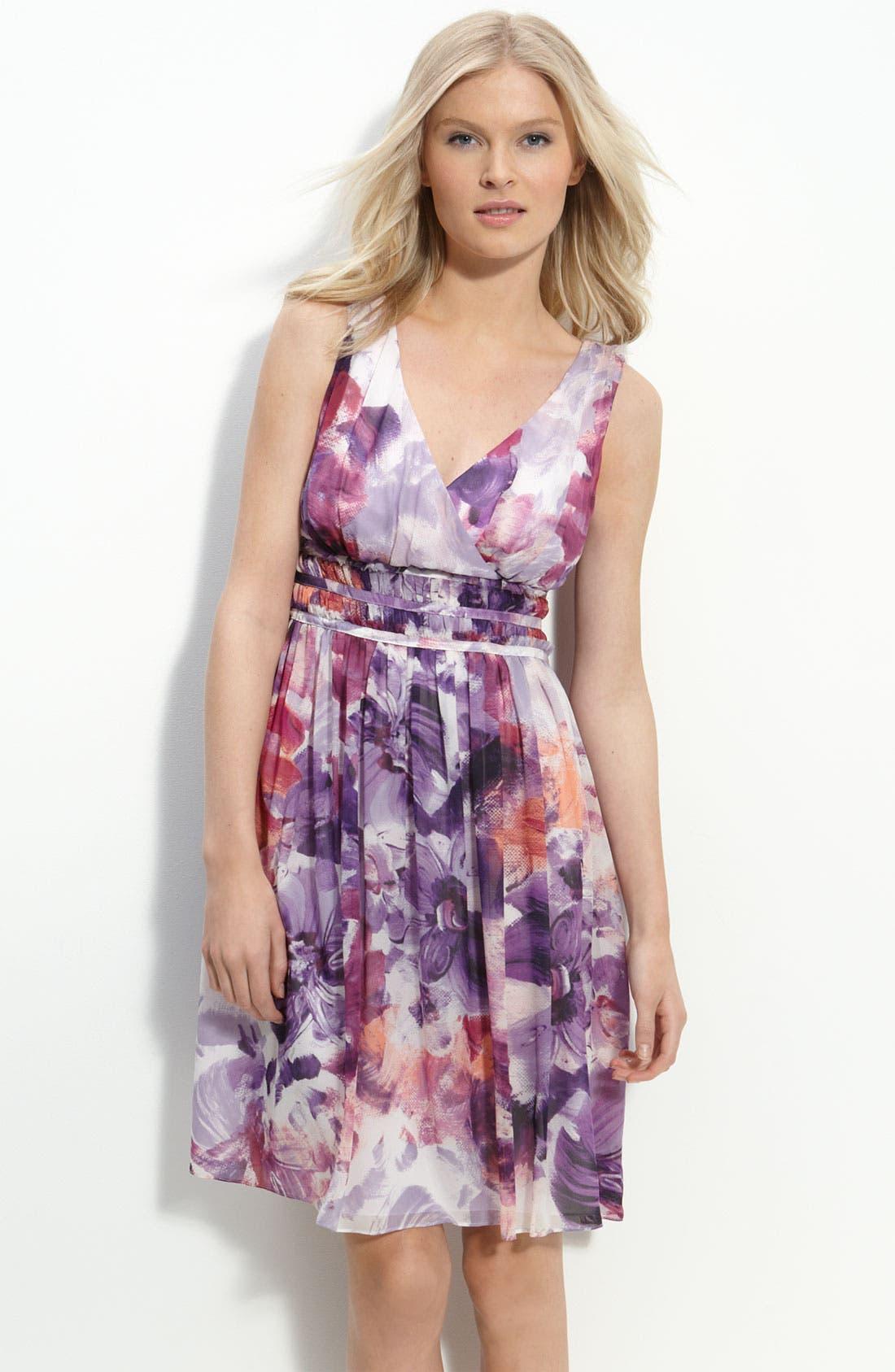 Alternate Image 1 Selected - Donna Morgan Print Chiffon Dress