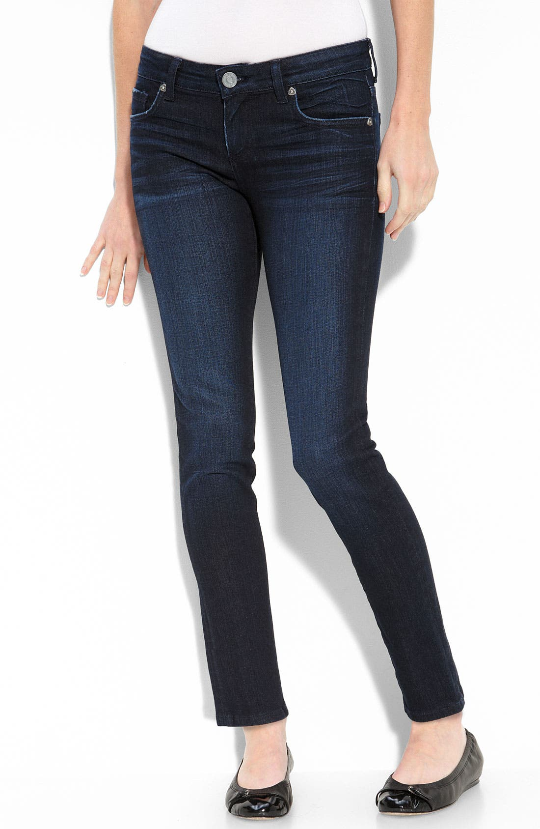 Alternate Image 1 Selected - KUT from the Kloth 'Audrey' Skinny Stretch Ankle Jeans (Petite)