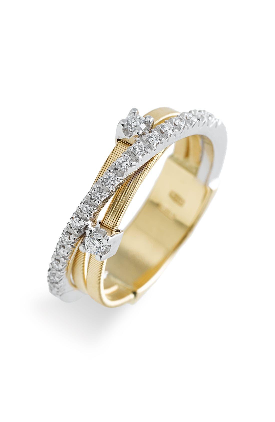 Alternate Image 1 Selected - Marco Bicego 'Goa' Diamond Two Tone Ring