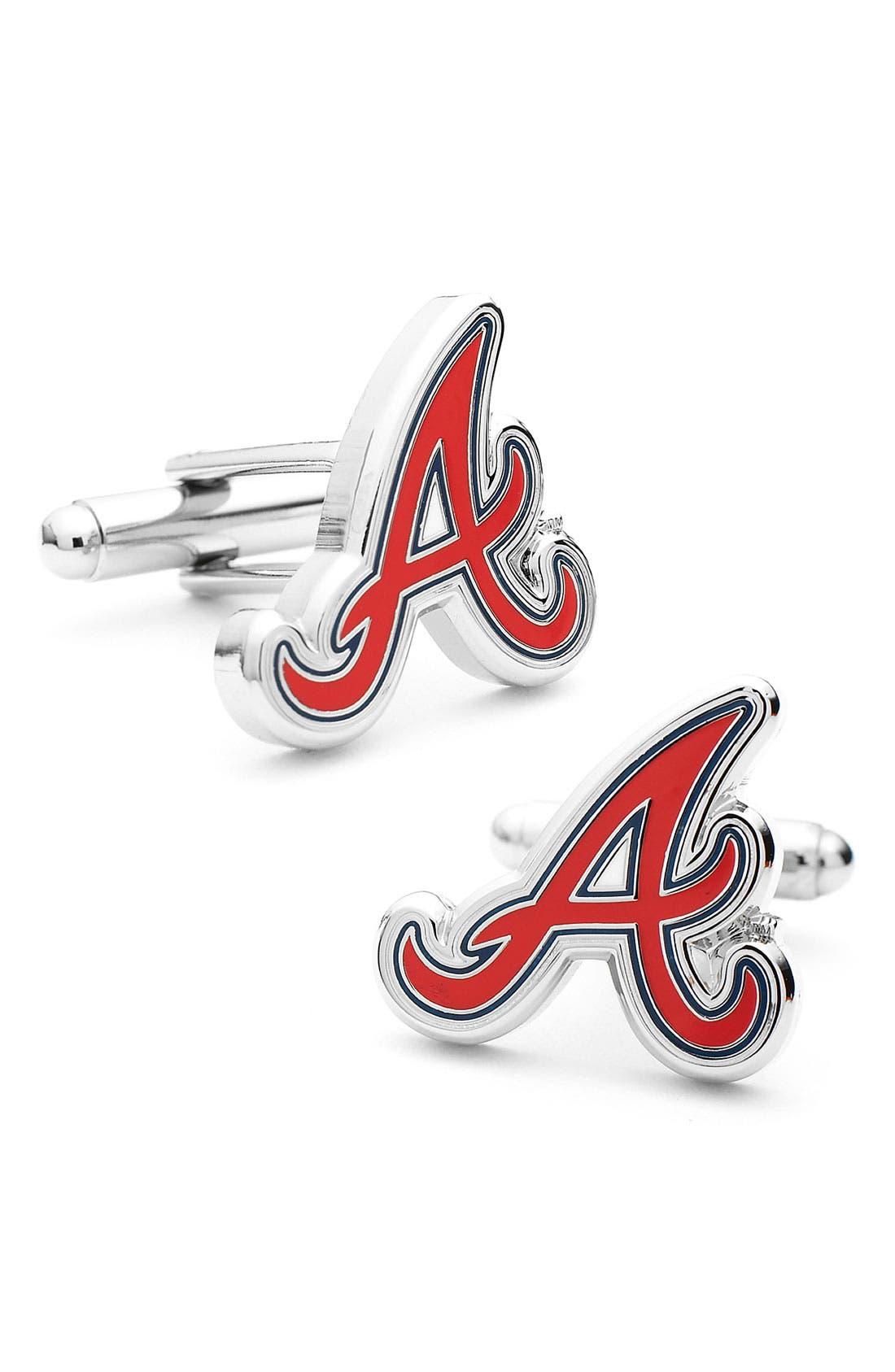 Alternate Image 1 Selected - Cufflinks, Inc. 'Atlanta Braves' Cuff Links