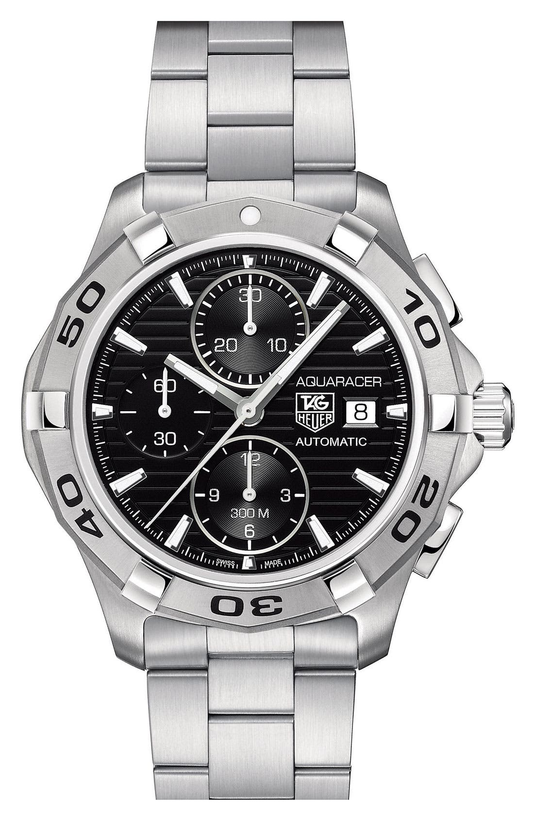 Alternate Image 1 Selected - TAG Heuer 'Aquaracer' Automatic Chronograph Watch
