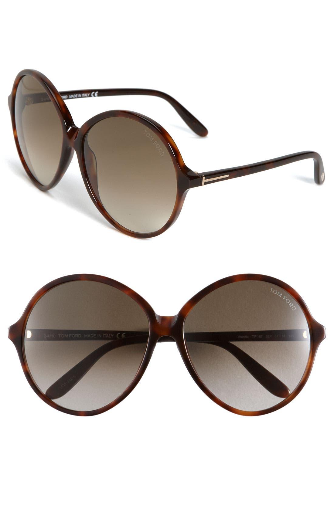 Alternate Image 1 Selected - Tom Ford 'Rhonda' Round Sunglasses