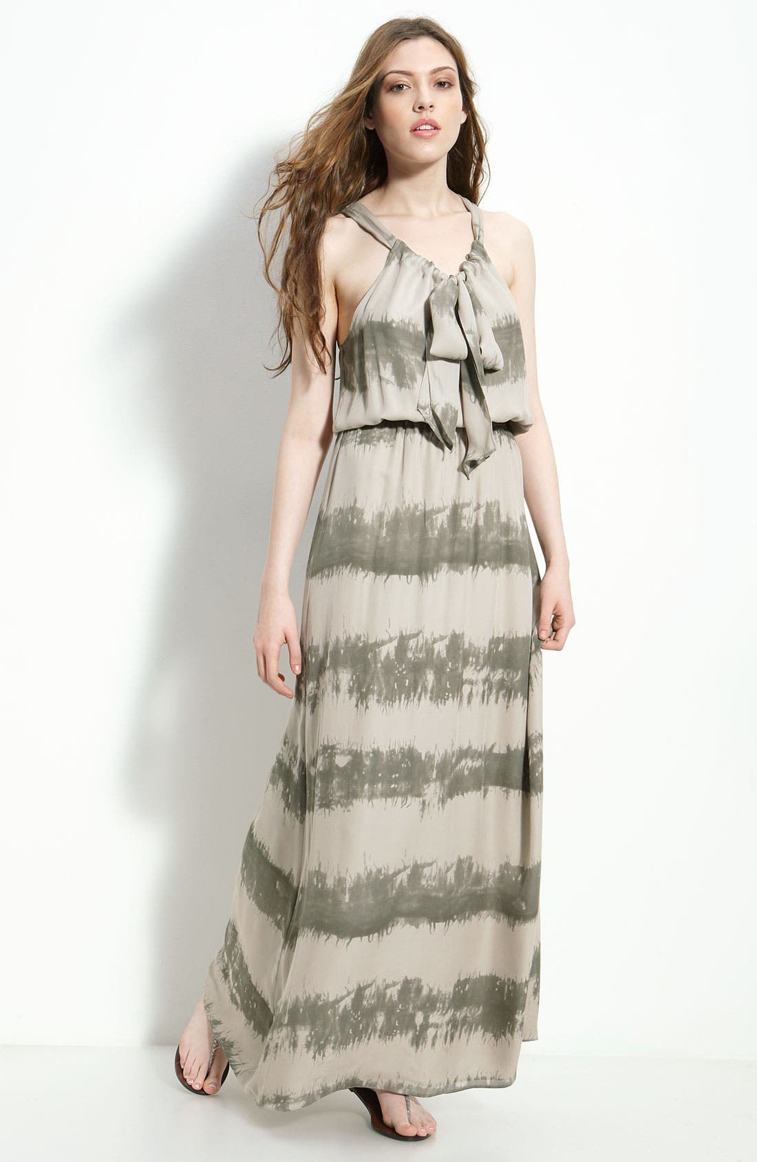 Alternate Image 1 Selected - Parker Tie Neck Silk Georgette Maxi Dress