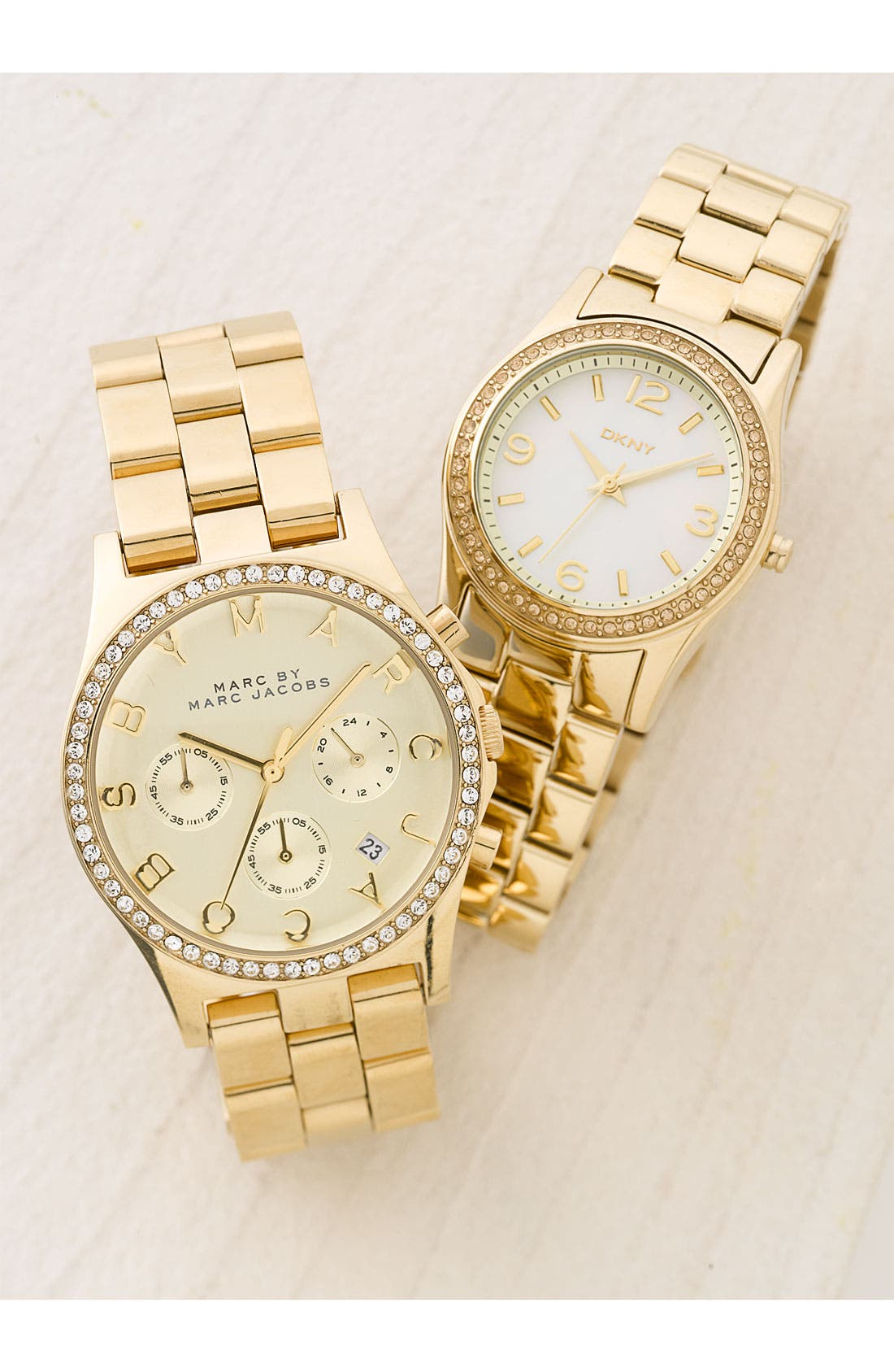 'Henry' Chronograph & Crystal Topring Watch, 40mm,                             Alternate thumbnail 6, color,                             Gold