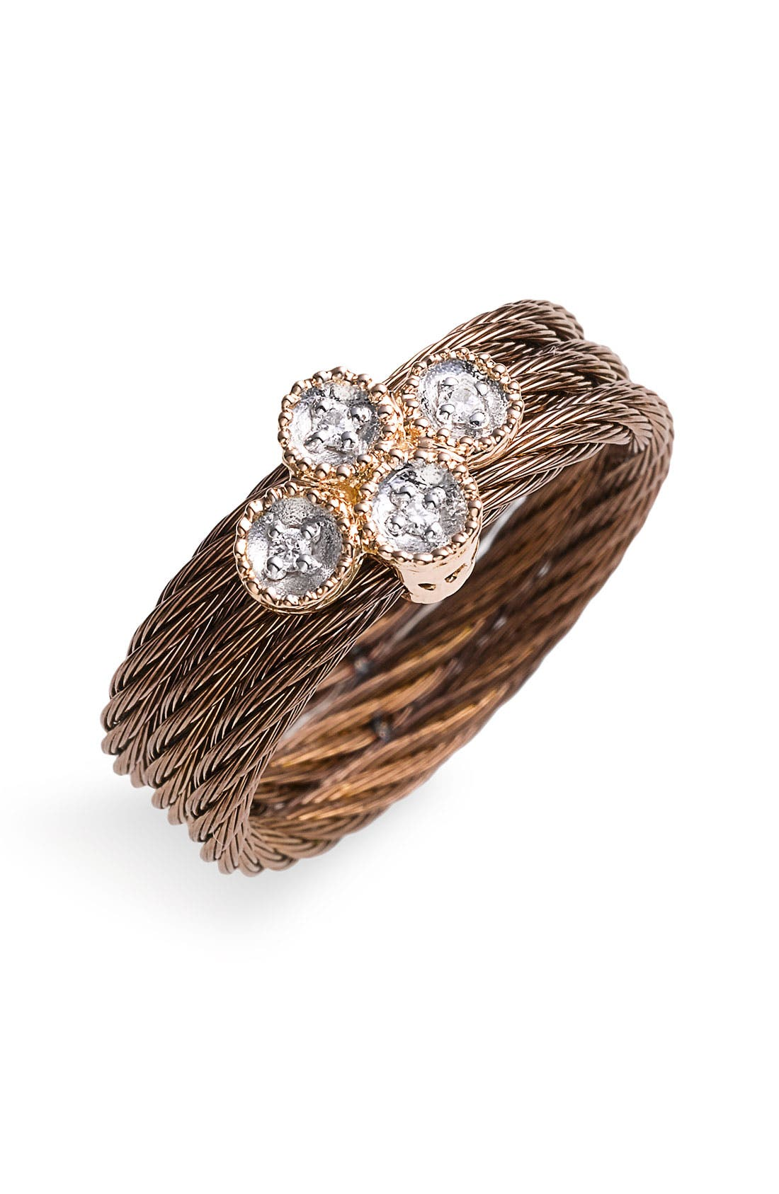 Alternate Image 1 Selected - ALOR® Gold, Diamond & Bronze Ring