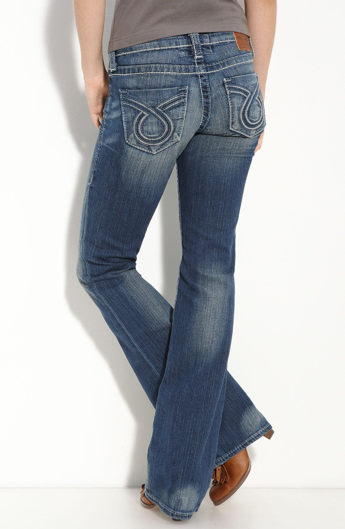 Main Image - Big Star 'Liv' Boot-Cut Jeans (Dark Wash) (Juniors)