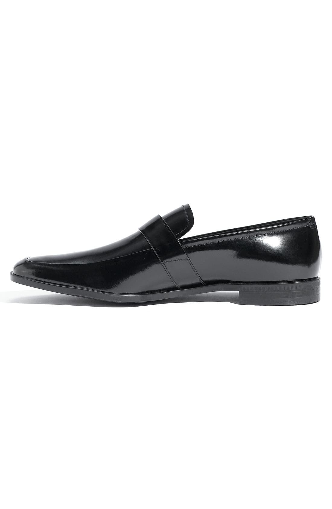 Alternate Image 2  - Prada Buckled Leather Slip On (Men)