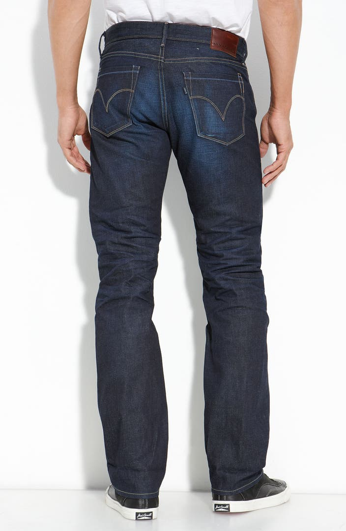 Levi 39 s made crafted 39 ruler 39 straight leg jeans shyler for Levis made and crafted review