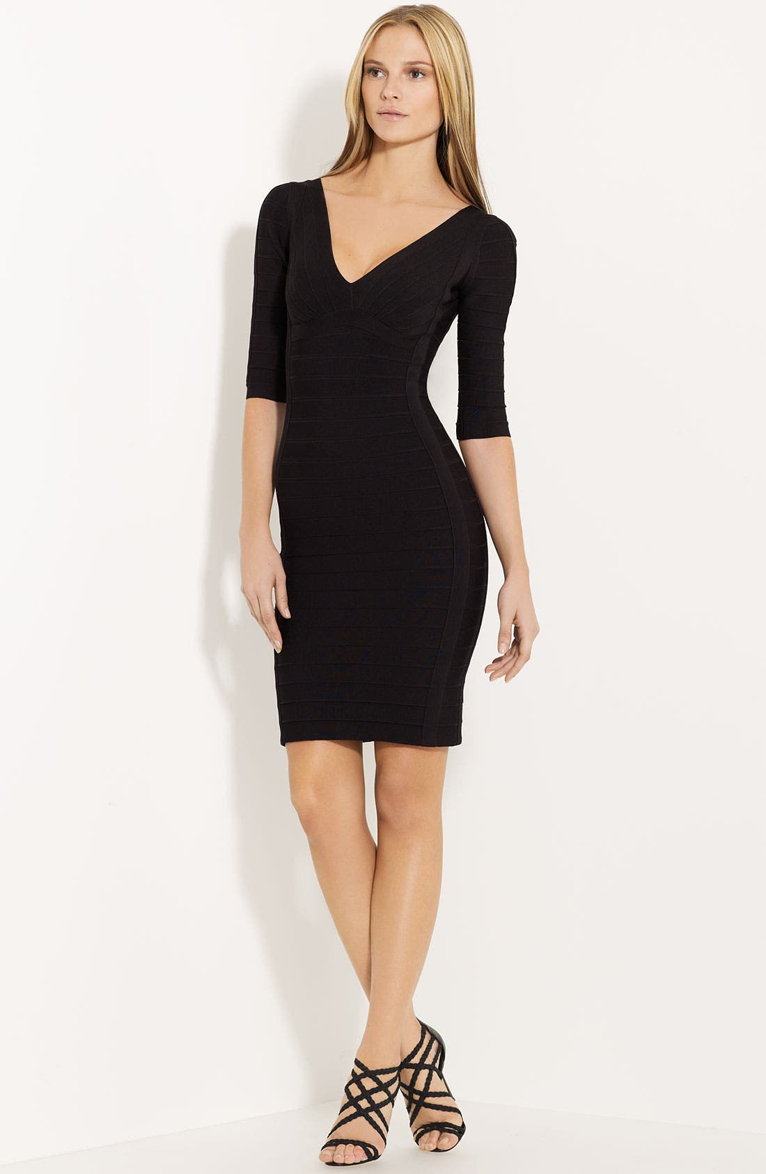 Main Image - Herve Leger Scoop Back Bandage Dress
