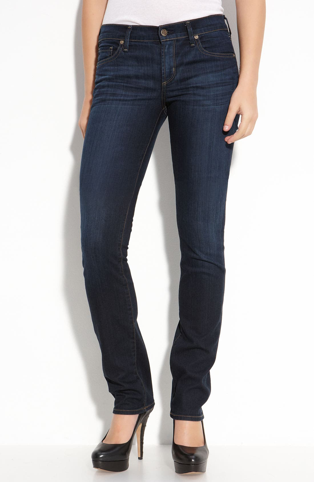 Alternate Image 1 Selected - Citizens of Humanity 'Ava' Straight Leg Stretch Jeans (Faith Dark Wash)