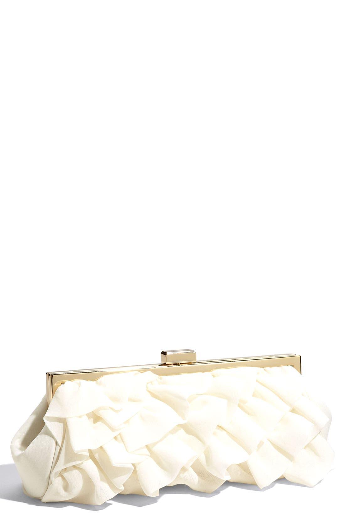 Main Image - Glint Ruffle Clutch