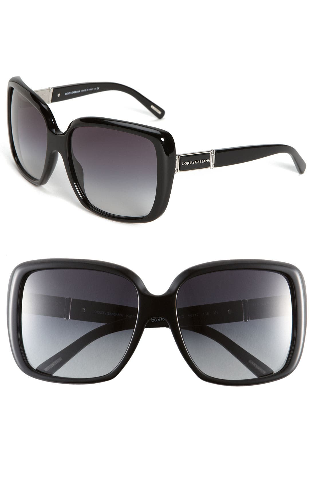 Main Image - Dolce&Gabbana 'Glam - Large' Square Sunglasses
