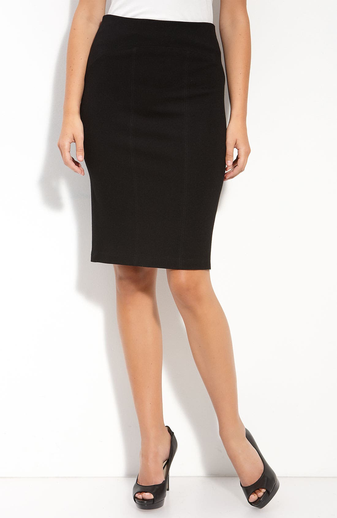 Main Image - Karen Kane Ponte Knit Pencil Skirt
