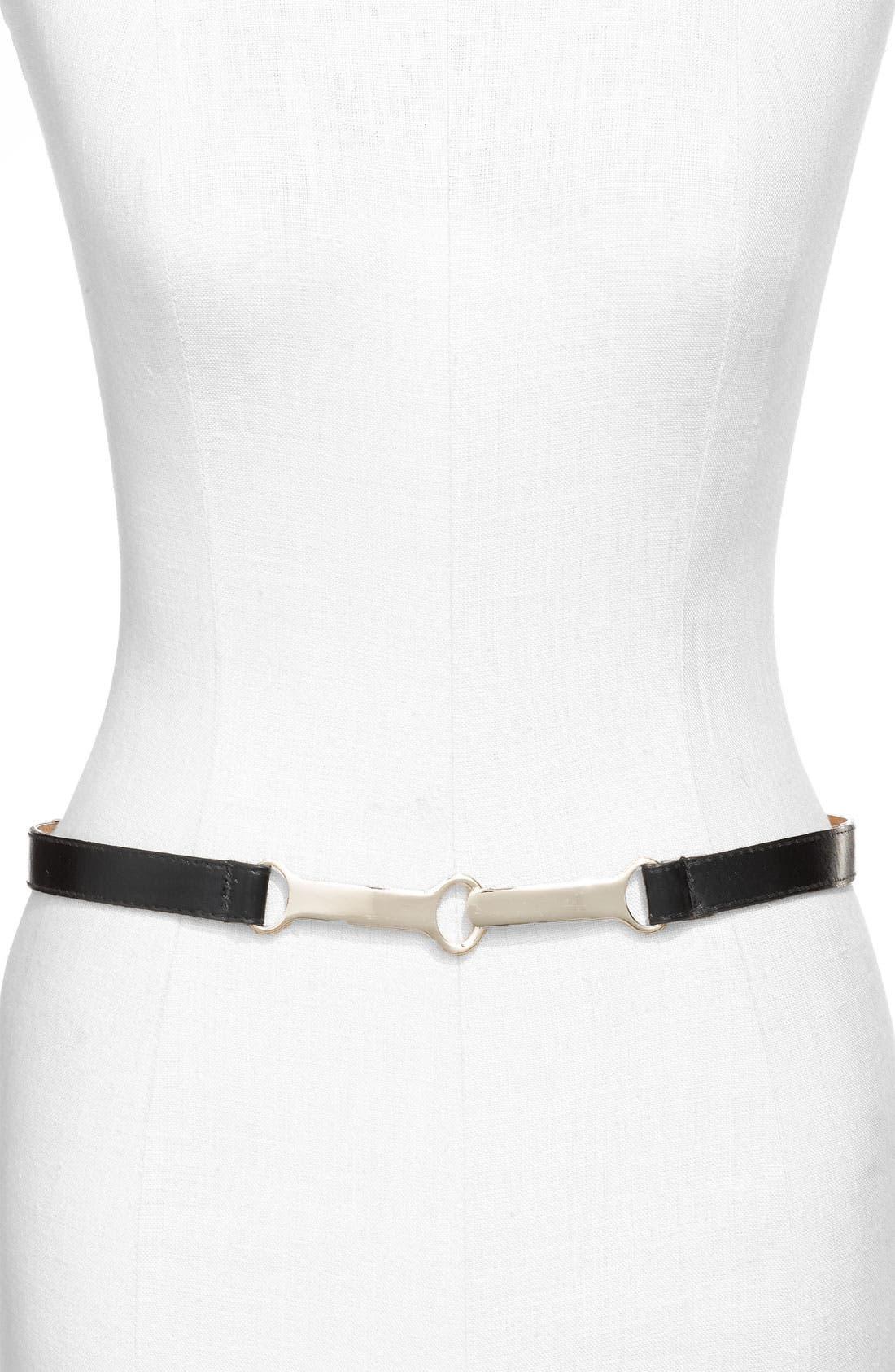 Alternate Image 1 Selected - WCM Belts 'Modern Toggle' Belt (Plus Size)