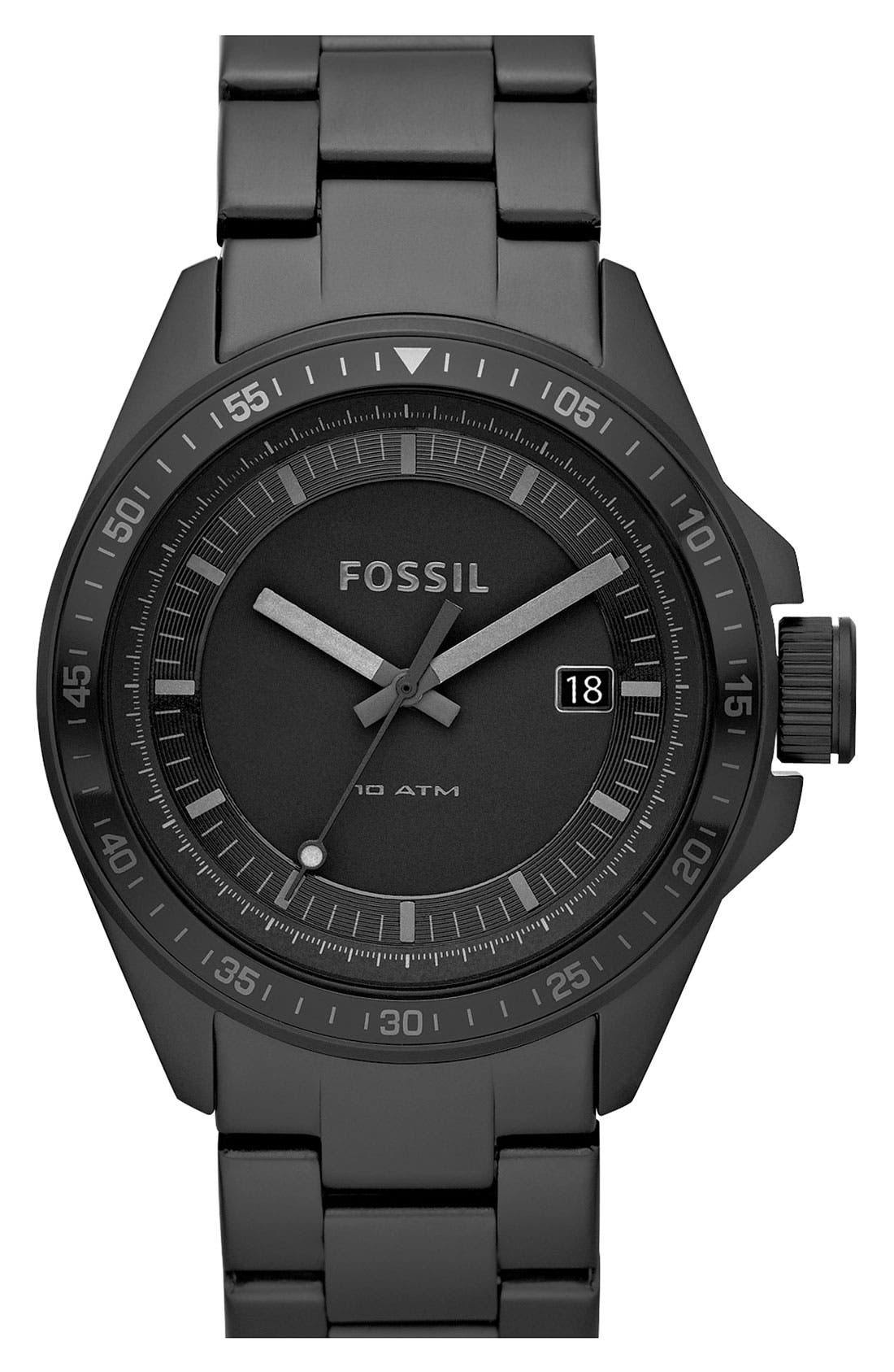 Main Image - Fossil 'Decker' Bracelet Watch, 44mm