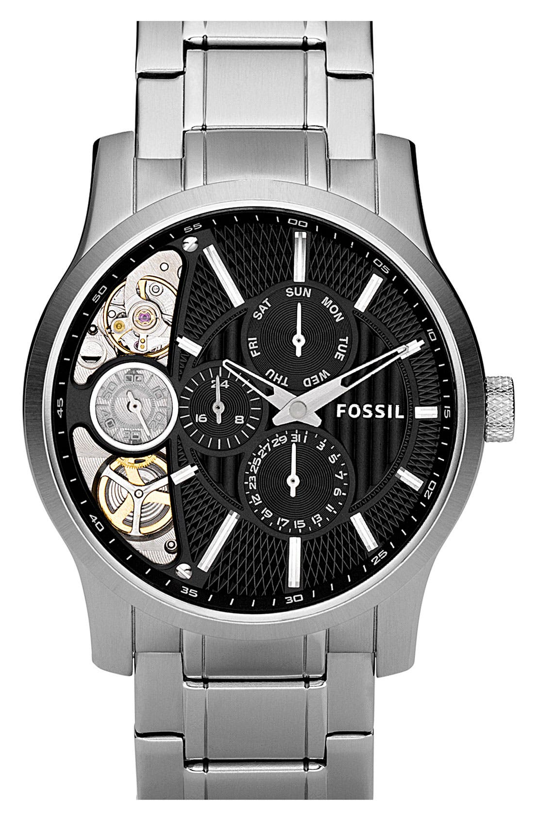 Main Image - Fossil 'Twist' Bracelet Watch, 42mm