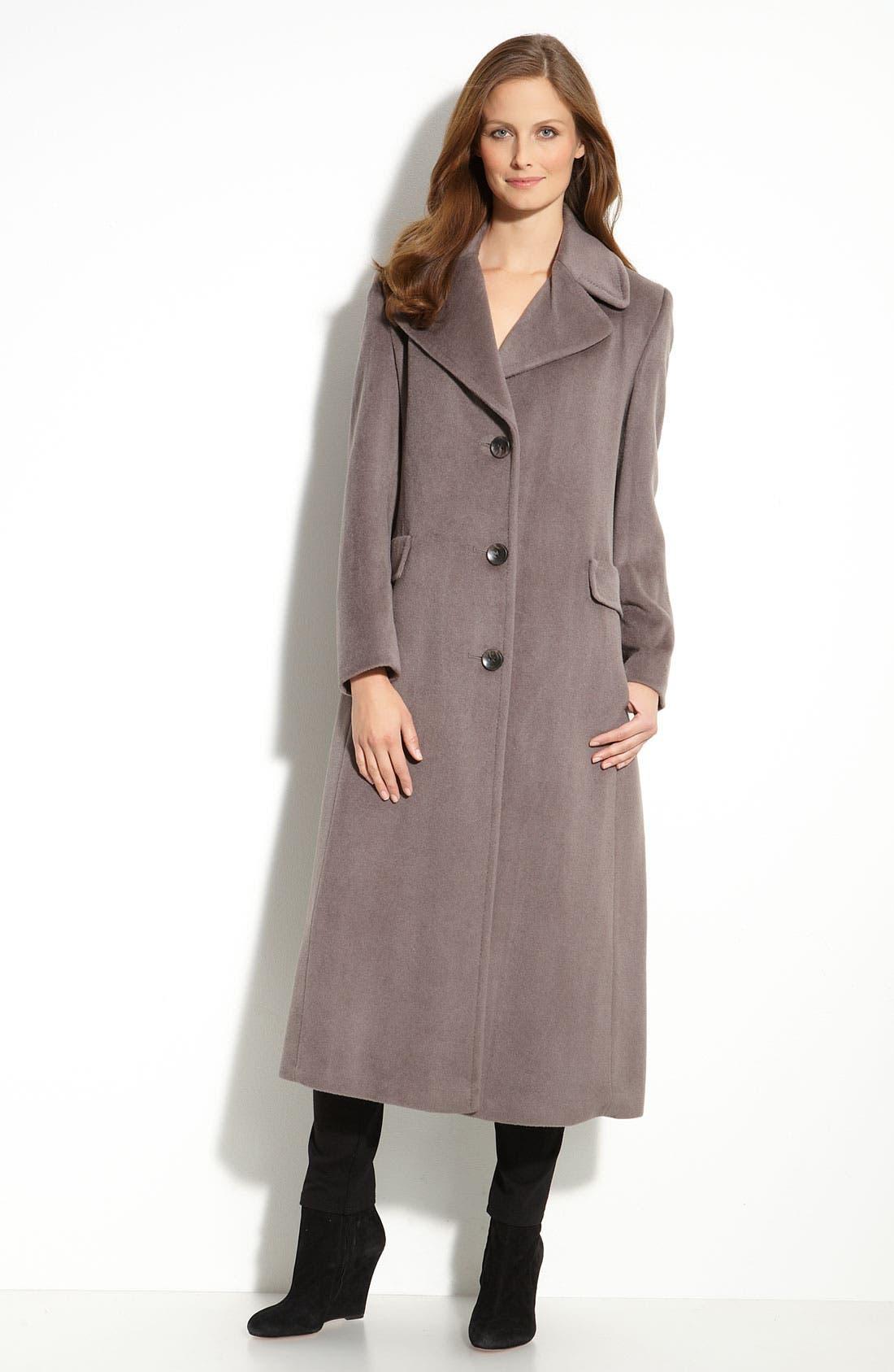 Alternate Image 1 Selected - Calvin Klein Notch Collar Coat