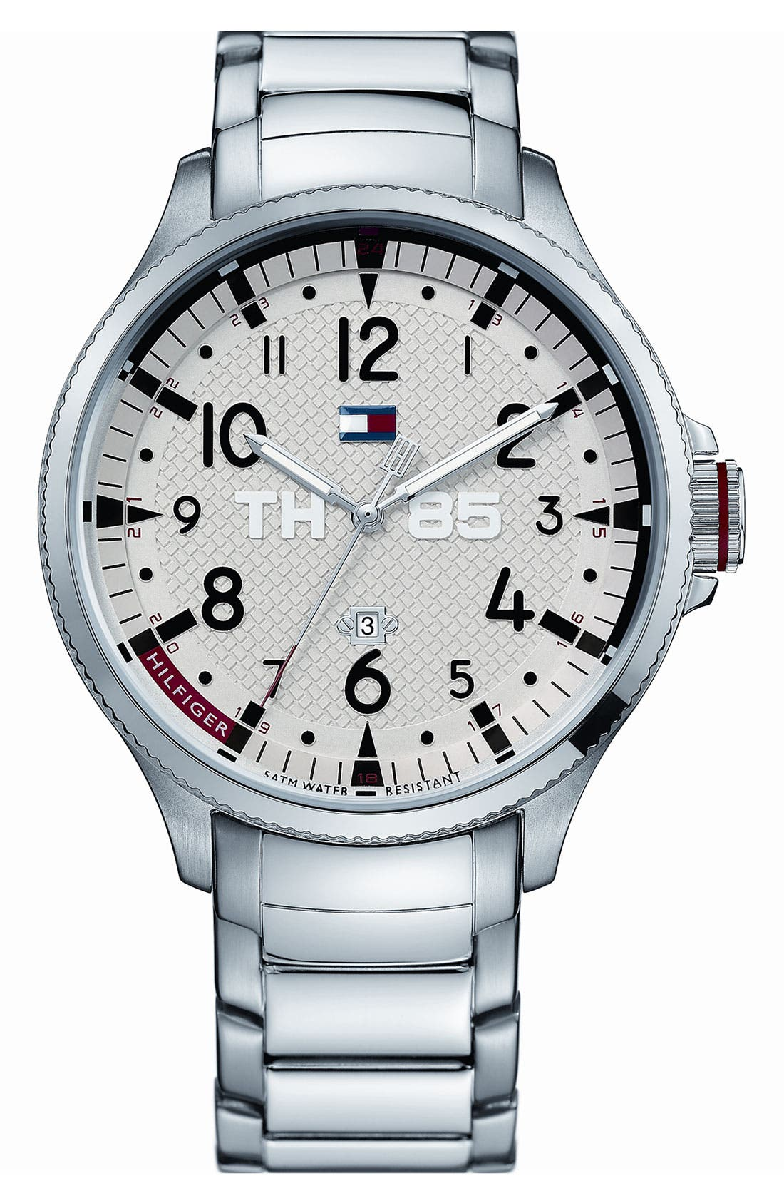 Alternate Image 1 Selected - Tommy Hilfiger Stainless Steel Bracelet Watch