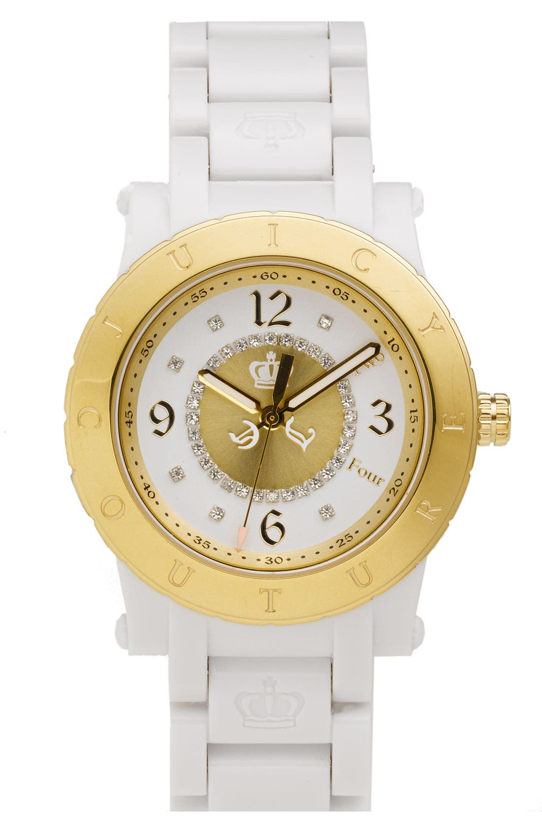 Alternate Image 1 Selected - Juicy Couture 'HRH' Plastic Bracelet Watch