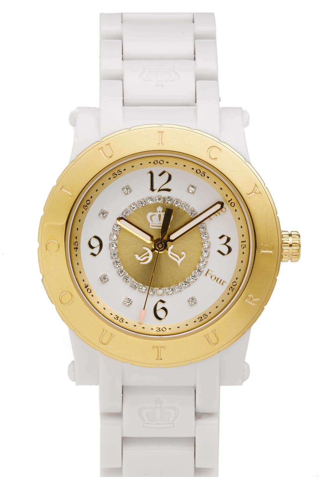 Main Image - Juicy Couture 'HRH' Plastic Bracelet Watch