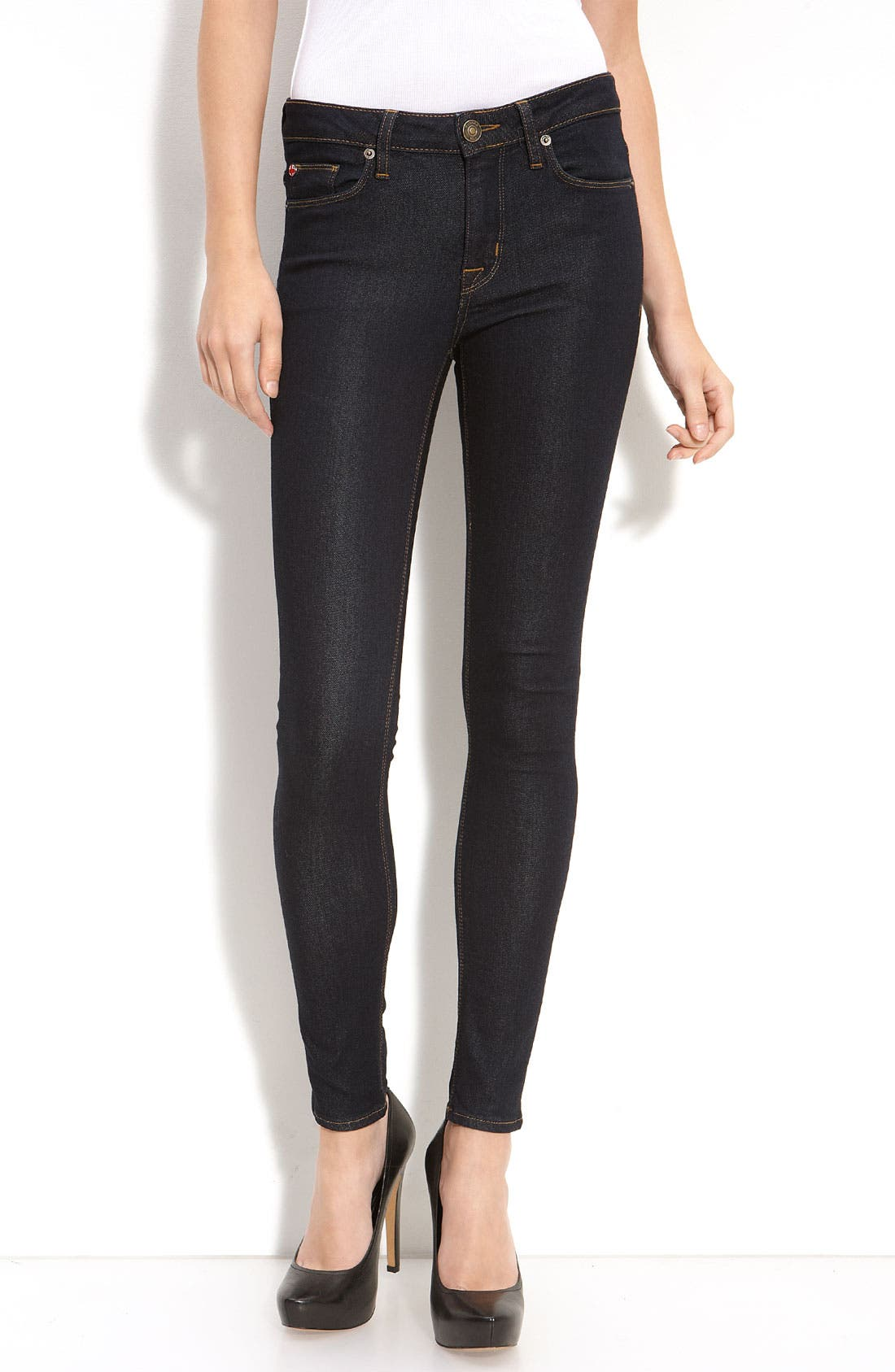 Alternate Image 1 Selected - Hudson Jeans 'Nico' Mid Rise Super Skinny Jeans (Chelsea)