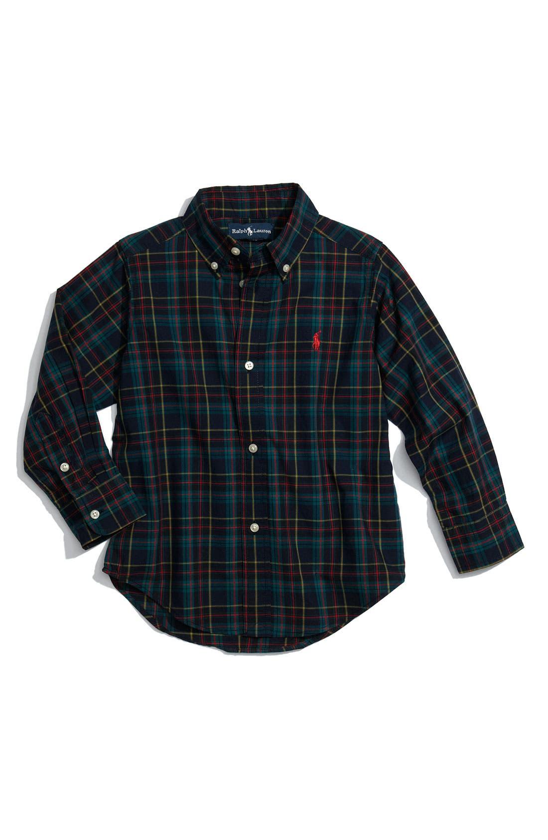 Alternate Image 1 Selected - Ralph Lauren Button Front Shirt (Toddler)