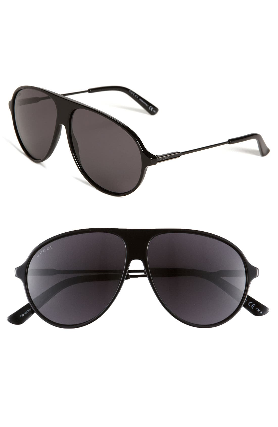 Main Image - Gucci 58mm Aviator Sunglasses