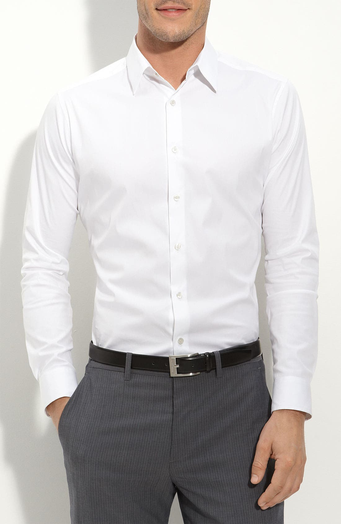 Alternate Image 1 Selected - Theory Trim Fit Solid Sport Shirt