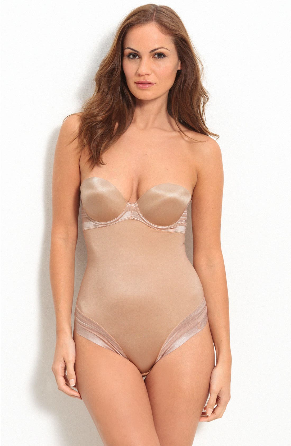 Alternate Image 1 Selected - Chantelle Intimates 'Pure' Convertible Strapless Bodysuit with Thong Back