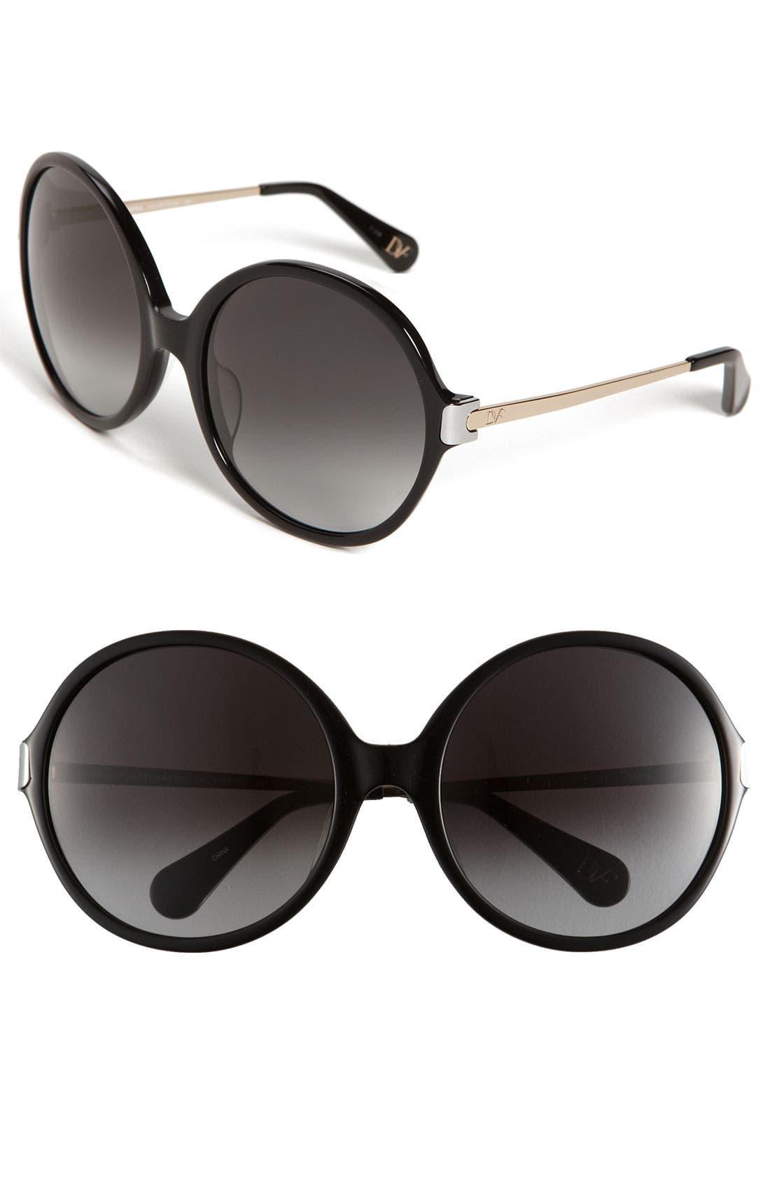 Main Image - Diane von Furstenberg 'Lais' Oversized Round Sunglasses
