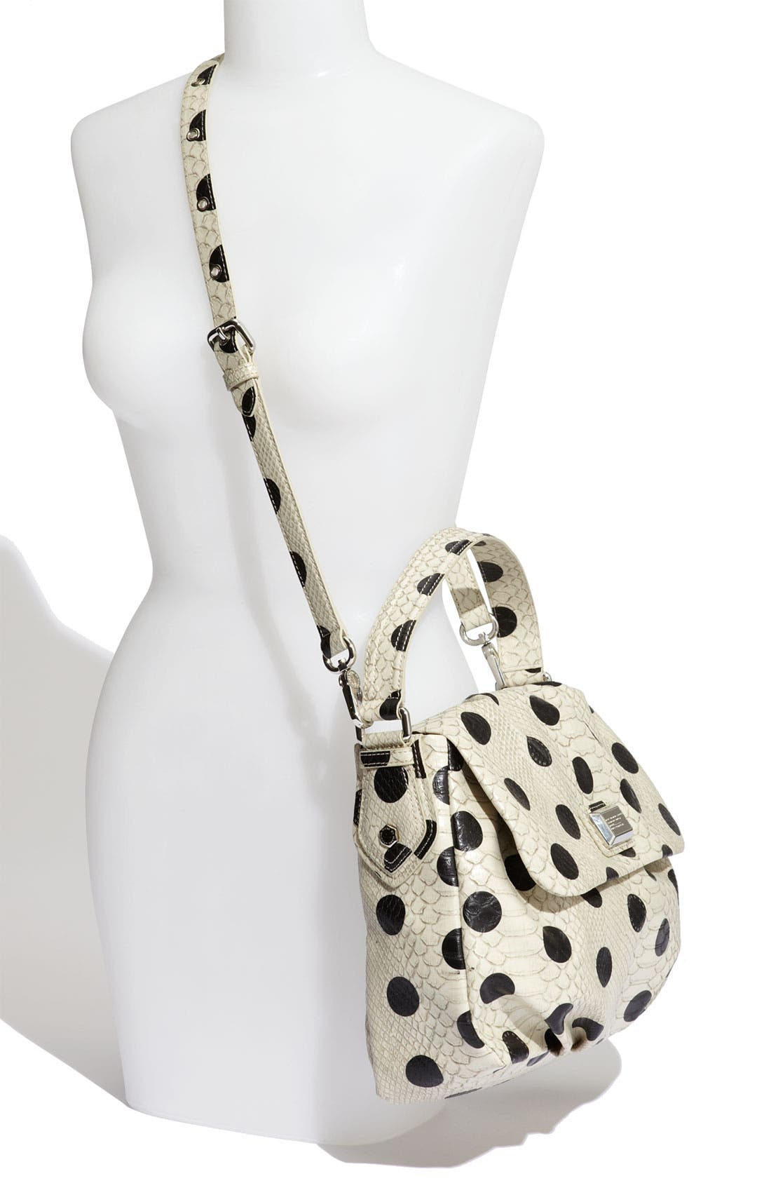 MARC BY MARC JACOBS 'Dotty Snake Little Ukita' Faux Leather Crossbody Bag,                             Alternate thumbnail 2, color,                             Linen Dot Multi