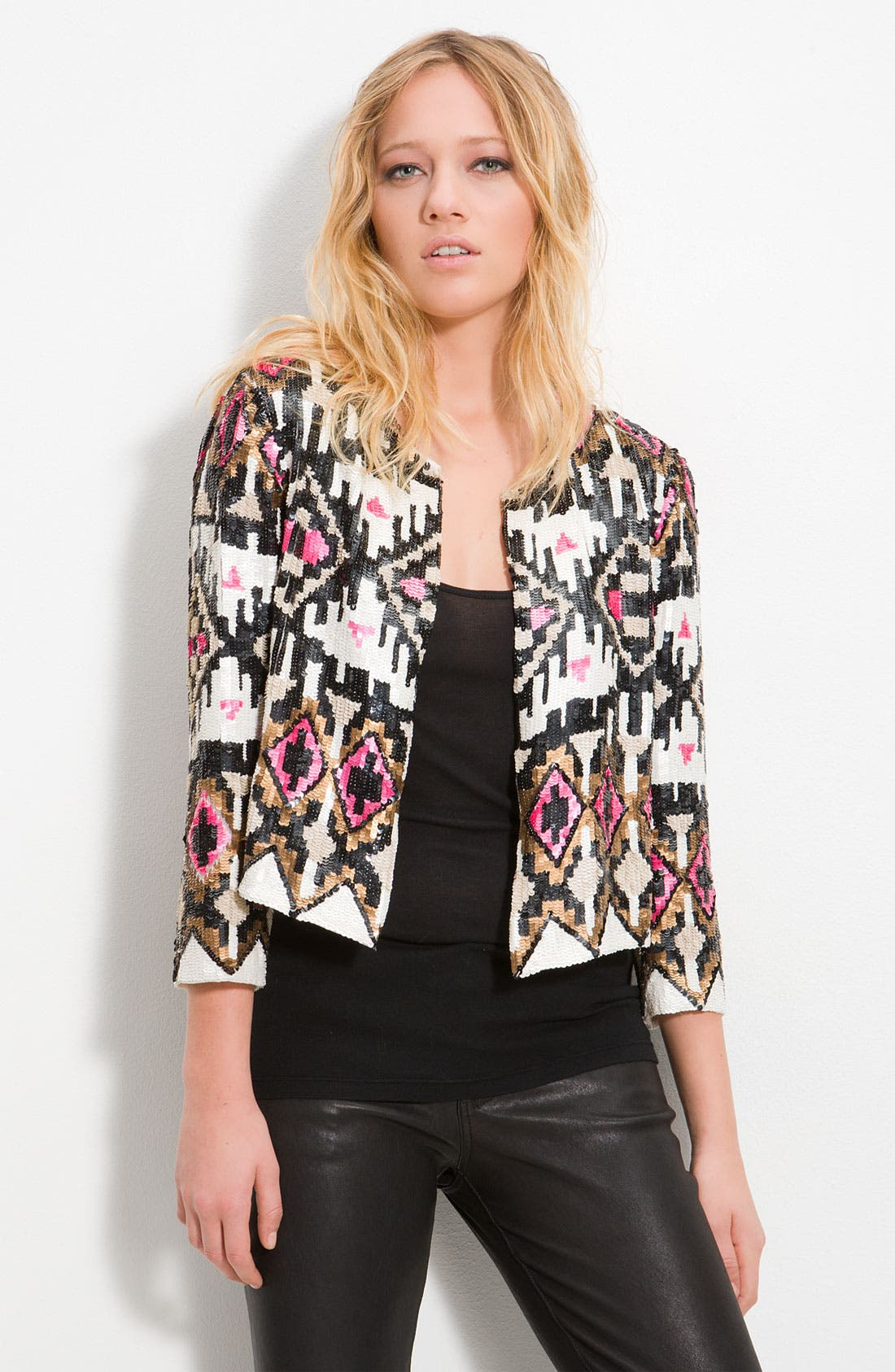 Alternate Image 1 Selected - Parker Crop Sequin Jacket