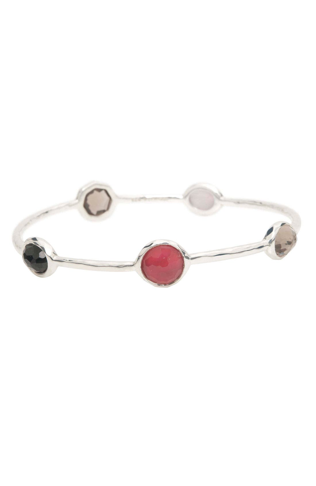 5-Stone Bangle,                         Main,                         color, Sterling Silver