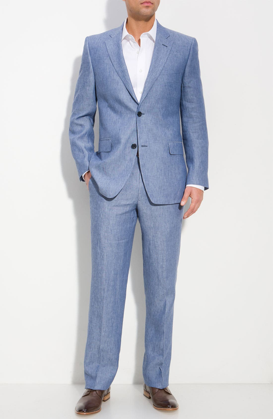Main Image - Di Milano Uomo Linen Jacket