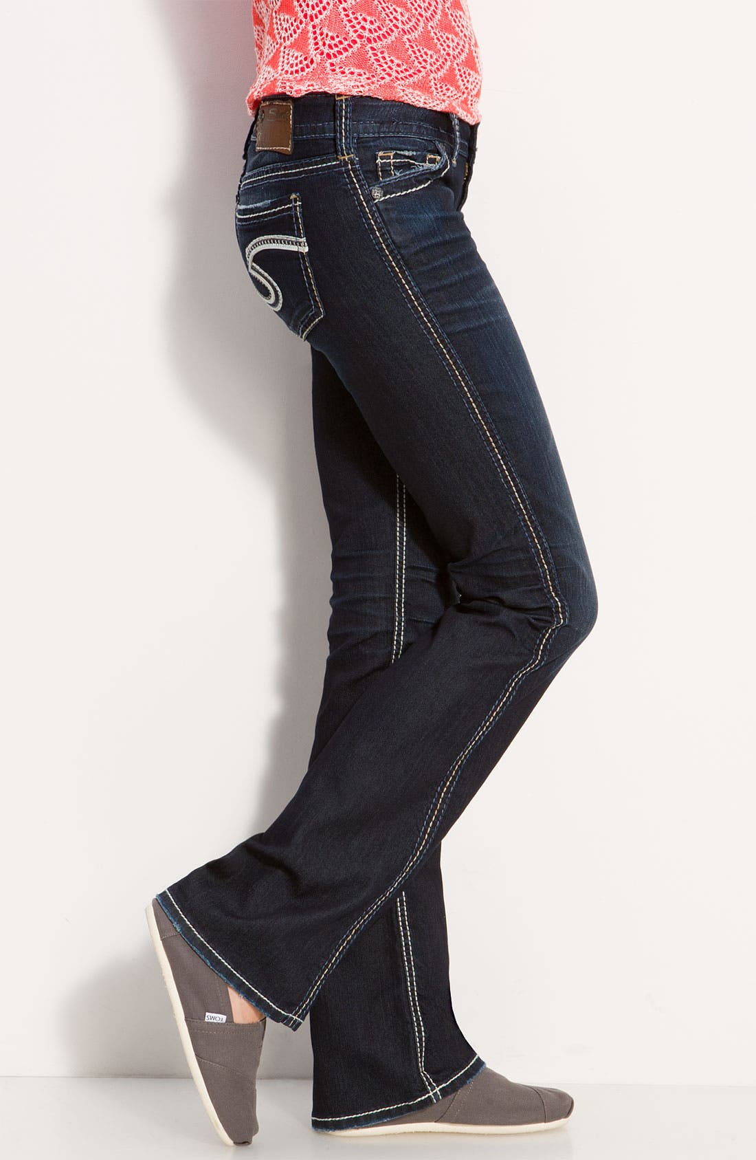Alternate Image 3  - Silver Jeans Co. 'Frances' Bootcut Jeans (Indigo Wash) (Juniors Regular & Long)