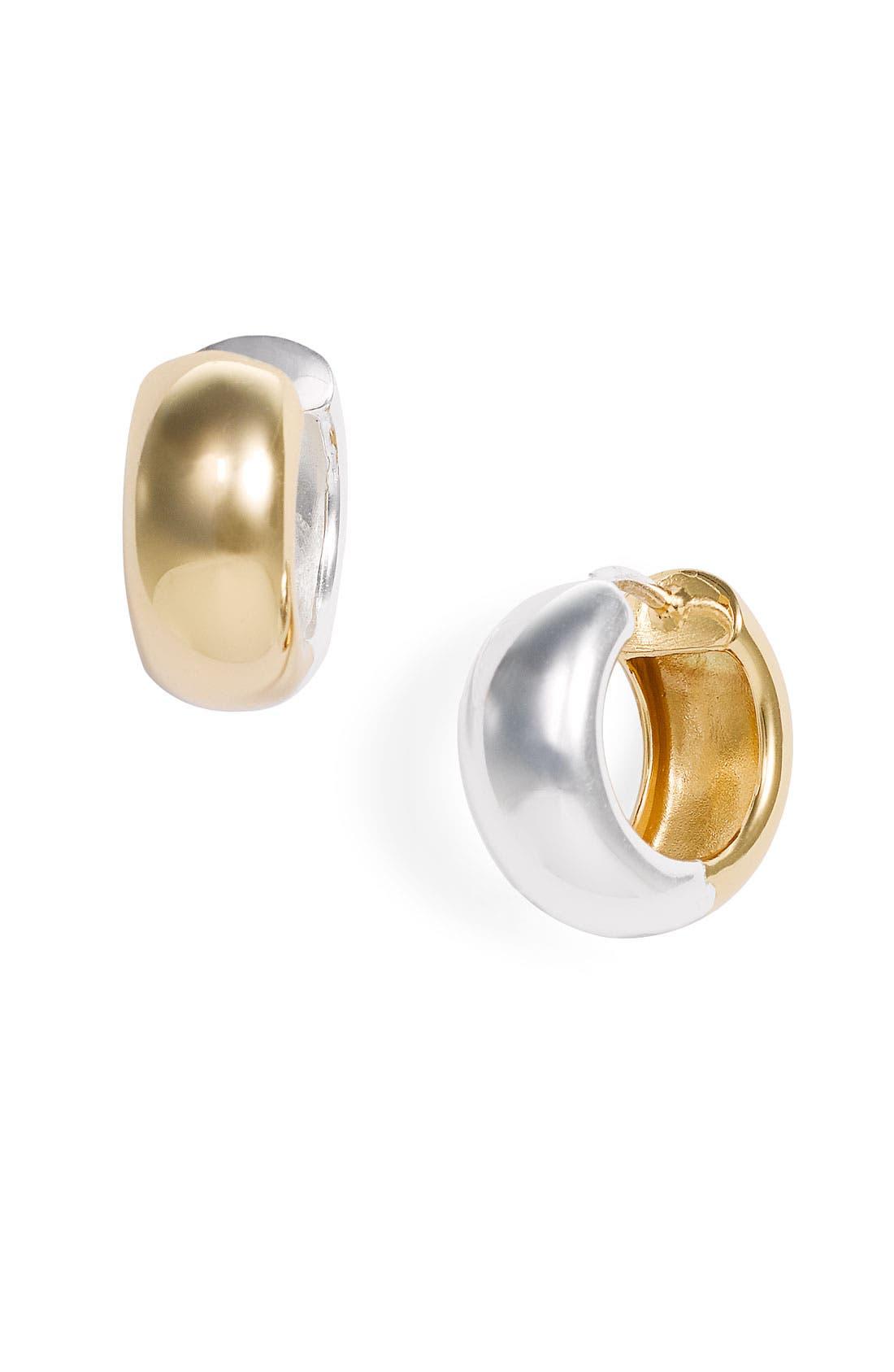 Alternate Image 1 Selected - Argento Vivo Reversible Hoop Earrings