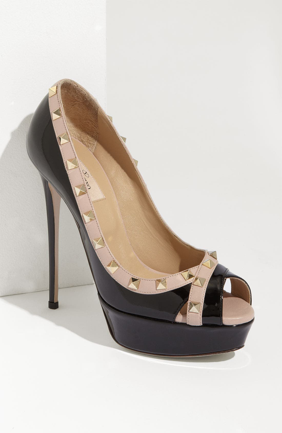 Alternate Image 1 Selected - Valentino 'Rockstud' Open Toe Pump