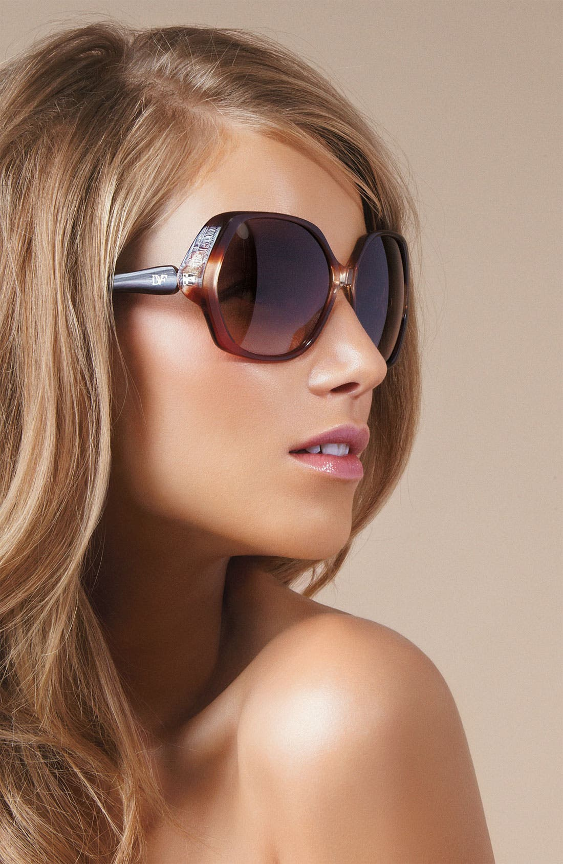 Alternate Image 2  - Diane von Furstenberg Oversized Sunglasses