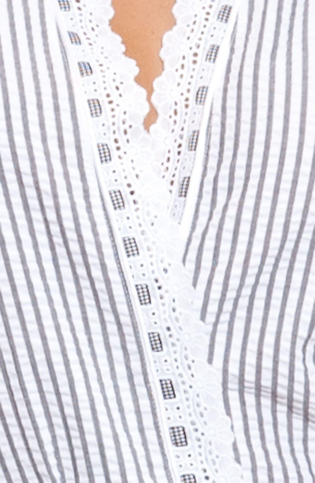 Alternate Image 3  - Eileen West 'Sweet As Peaches' Seersucker Robe