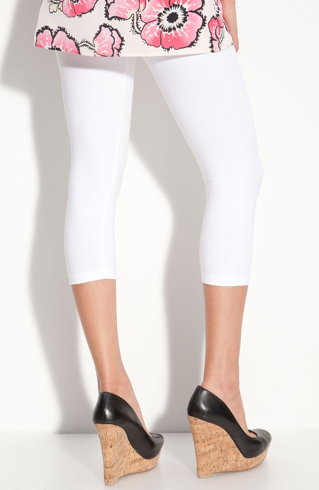Alternate Image 2  - Nordstrom Capri Leggings