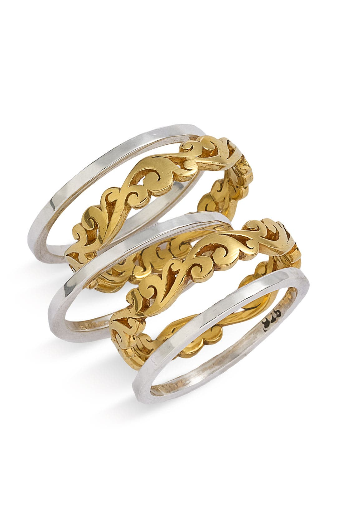 Main Image - Lois Hill 'Two Tone Organic Geo' Stack Rings (Set of 5) (Nordstrom Exclusive)