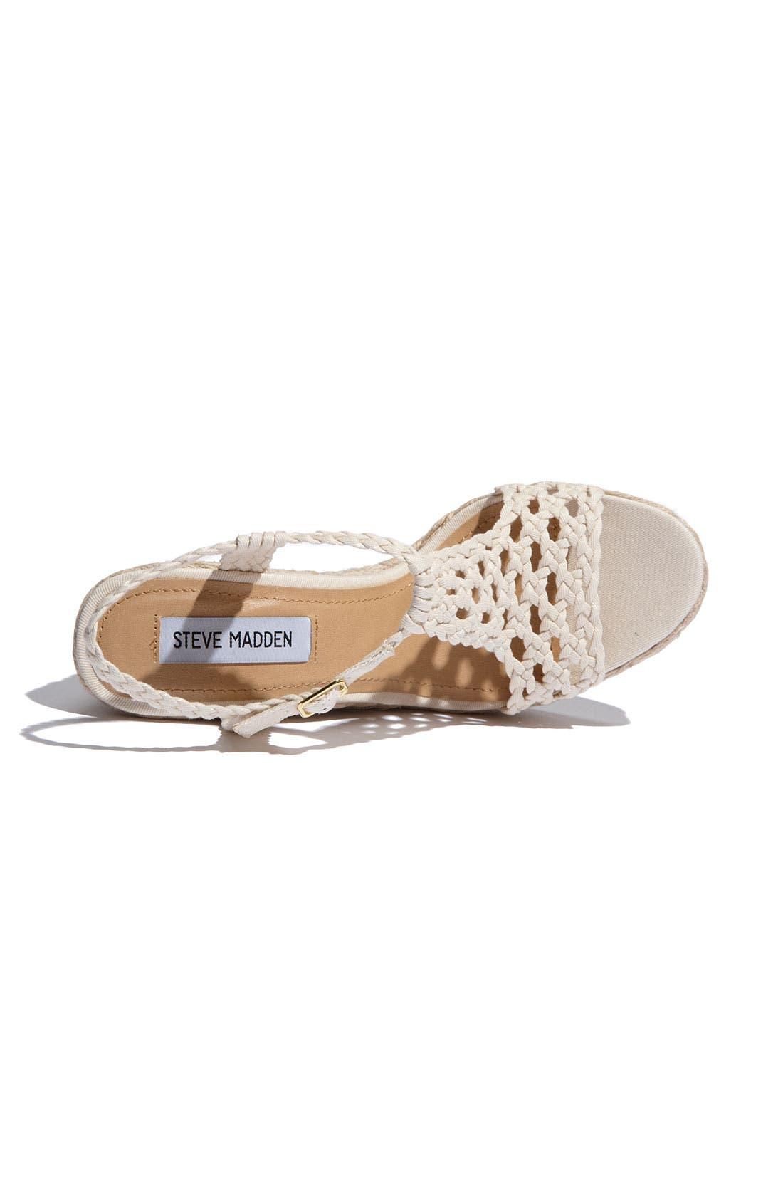 Alternate Image 3  - Steve Madden 'Manngo' Woven Sandal