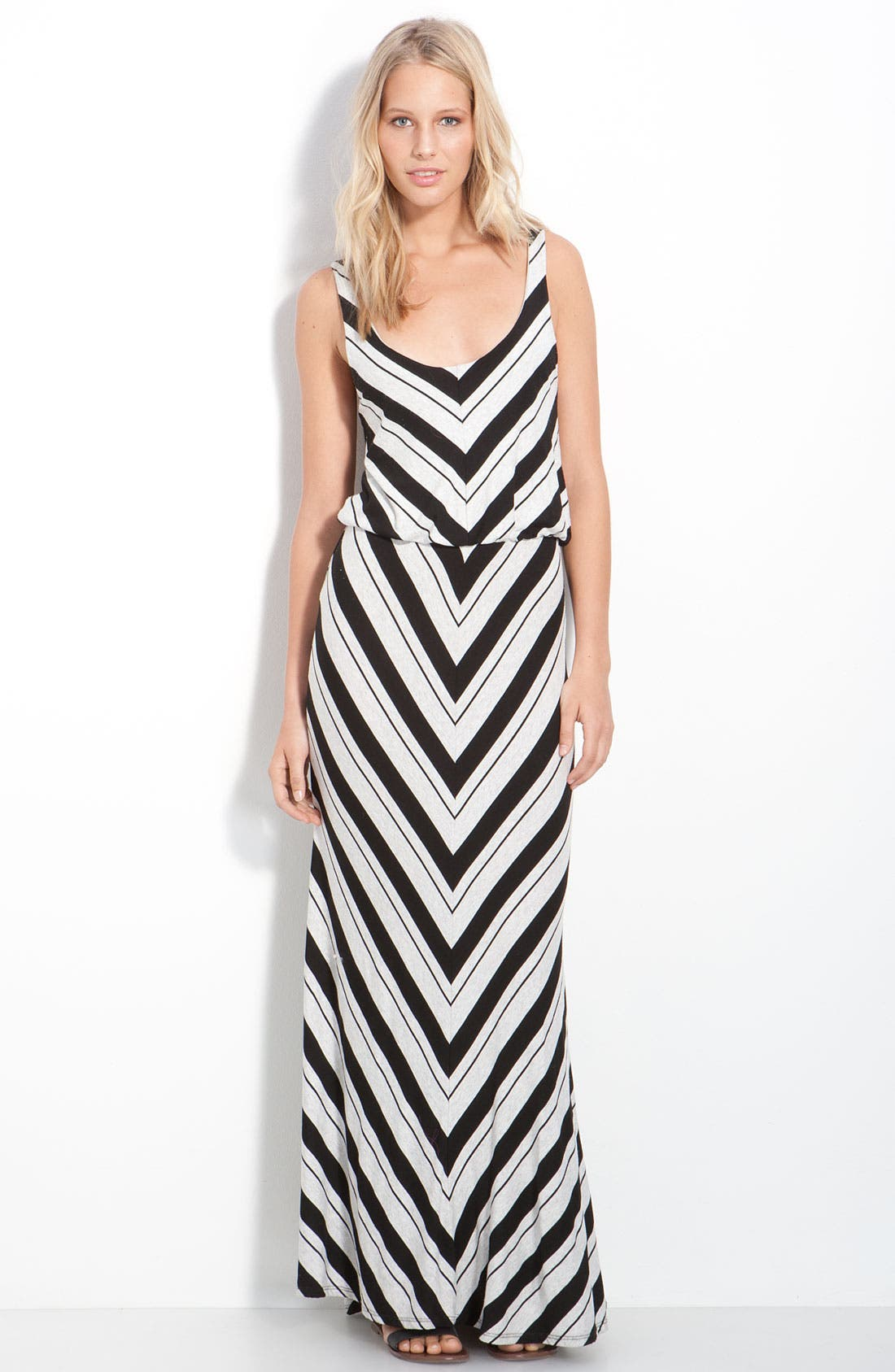 Alternate Image 1 Selected - Ella Moss 'Ringo' Chevron Blouson Maxi Tank Dress